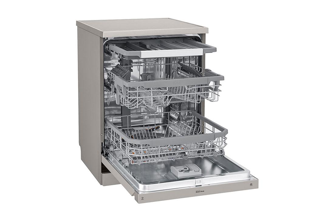 ماشین ظرفشویی بخارشوی 14 نفره ال جی مدل XD74S با گارانتی گلدیران